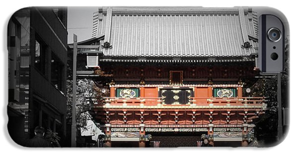 History iPhone Cases - Shrine in Tokyo iPhone Case by Naxart Studio