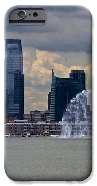 Shuttle Enterprise and fire boat iPhone Case by Gary Eason