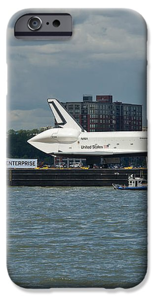 Shuttle Enterprise flag escort iPhone Case by Gary Eason