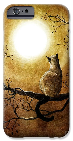Zen Digital iPhone Cases - Siamese Cat in Timeless Autumn iPhone Case by Laura Iverson