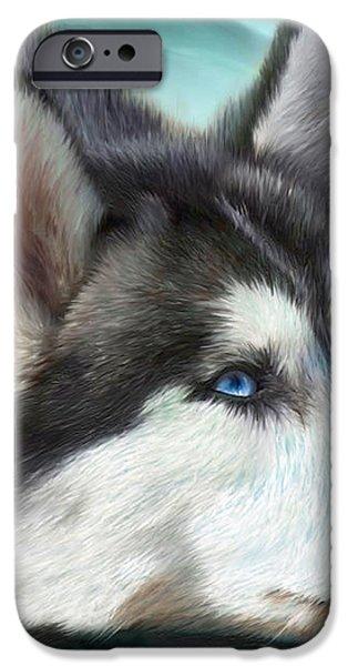Siberian Husky iPhone Case by Carol Cavalaris
