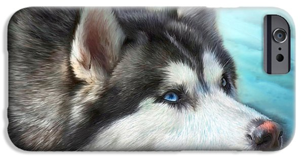 Best Sellers -  - Husky iPhone Cases - Siberian Husky iPhone Case by Carol Cavalaris