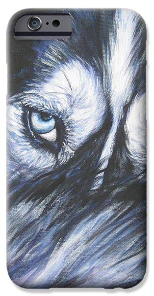 Siberian Husky eyes iPhone Case by Lee Ann Shepard
