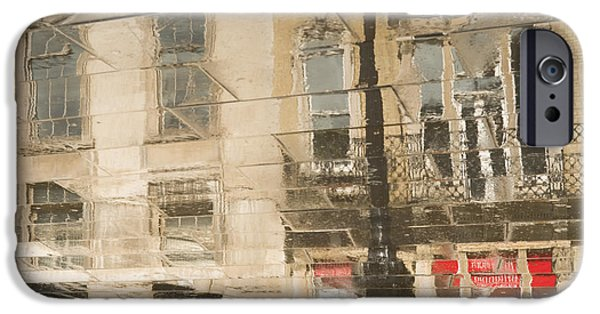 National Gallery Art iPhone Cases - Sidewalk Reflections II iPhone Case by Clarence Holmes