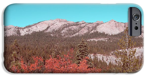 Sierras iPhone Cases - Sierra Nevada Mountain iPhone Case by Naxart Studio