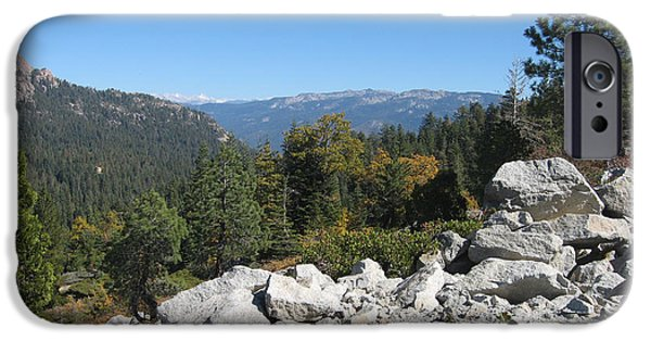 Sierras iPhone Cases - Sierra Nevada Mountains 1 iPhone Case by Naxart Studio