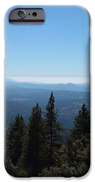 Sierra Nevada Mountains iPhone Case by Naxart Studio