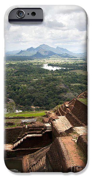 Ancient iPhone Cases - Sigiriya ruins iPhone Case by Jane Rix