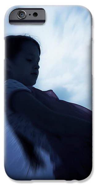 silhouette of a girl against the sky iPhone Case by Joana Kruse