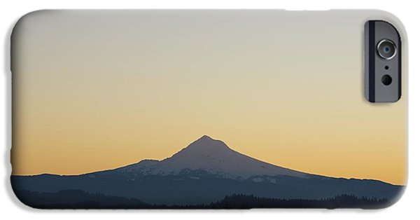 Mountain iPhone Cases - Silhouette Of Mountain Peak At Sunrise iPhone Case by Craig Tuttle