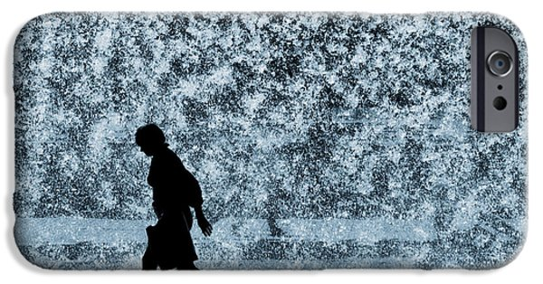 Backdrop iPhone Cases - Silhouette over water iPhone Case by Carlos Caetano