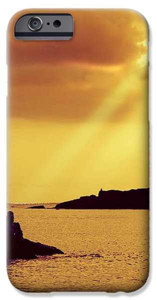 Silhouettes on the Beach iPhone Case by Carlos Caetano