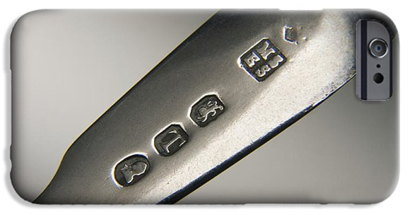 Hallmark iPhone Cases - Silver Hallmarks, 1814 iPhone Case by Sheila Terry