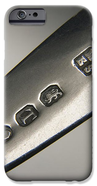 Silver Hallmarks, 1814 iPhone Case by Sheila Terry