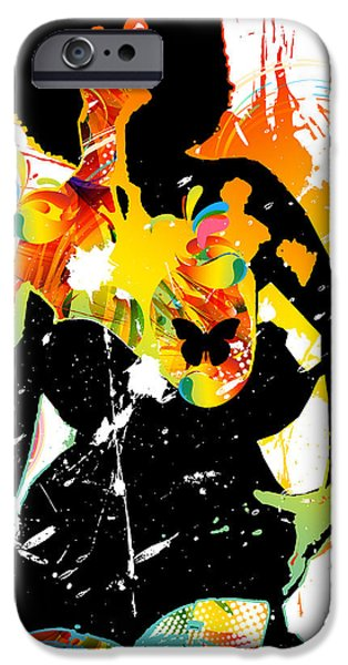 Simplistic Splatter iPhone Case by Chris Andruskiewicz