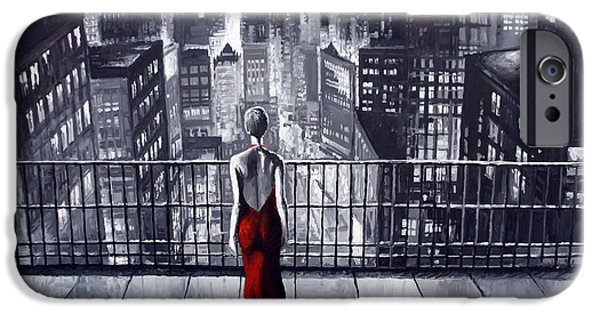 Oil Paintings iPhone Cases - SinCity iPhone Case by Yuriy  Shevchuk