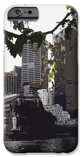 Singapore's Merlion iPhone Case by Juergen Weiss