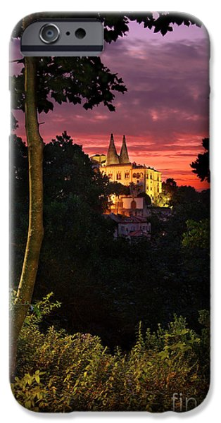 Portuguese iPhone Cases - Sintra Palace iPhone Case by Carlos Caetano