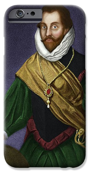 Sir Francis Drake, English Explorer iPhone Case by Maria Platt-evans
