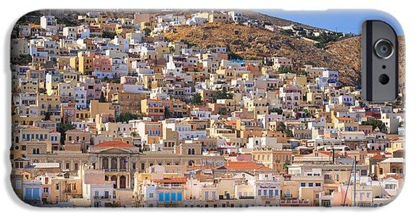 Mesta iPhone Cases - Siros Greece 2  iPhone Case by Emmanuel Panagiotakis