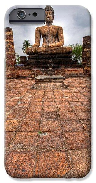 Bangkok iPhone Cases - Sitting Buddha iPhone Case by Adrian Evans