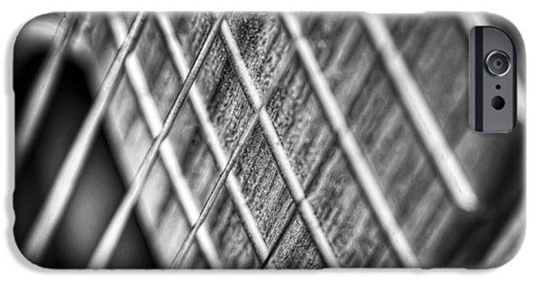 Guitar Strings iPhone Cases - Six strings iPhone Case by Scott Norris