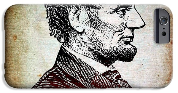16th President Mixed Media iPhone Cases - Sixteenth President iPhone Case by Angelina Vick