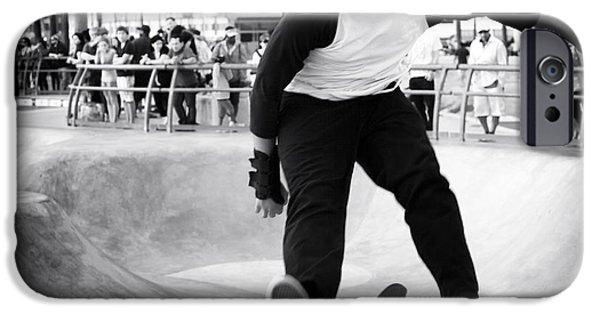 Skateboard iPhone Cases - Skateboard Fail iPhone Case by John Rizzuto