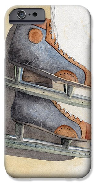 Skates iPhone Case by Ken Powers