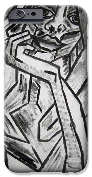Sketch - Intrigued iPhone Case by Kamil Swiatek
