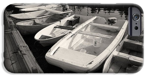 Skiff iPhone Cases - Skiffs and Dinghies iPhone Case by David Rucker
