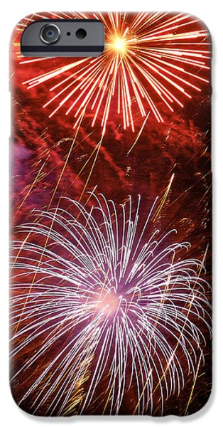 July 4th Digital Art iPhone Cases - Sky Explosion iPhone Case by Phill  Doherty