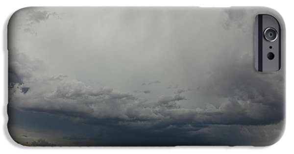Storm iPhone Cases - Sky Over Grasslands National Park iPhone Case by Robert Postma
