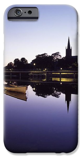 Skyline Over The R Garavogue, Sligo iPhone Case by The Irish Image Collection