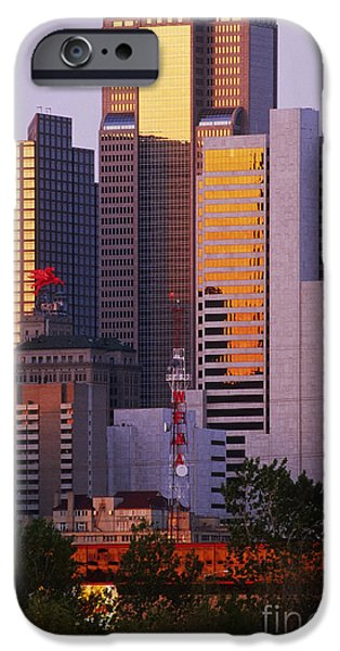 Skyscrapers in Downtown Dallas iPhone Case by Jeremy Woodhouse