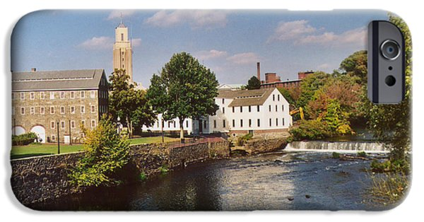Blackstone River iPhone Cases - Slater Mill Complex iPhone Case by Barry Doherty