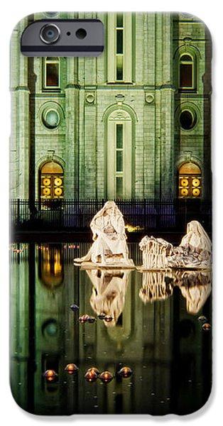 SLC Temple Nativity iPhone Case by La Rae  Roberts