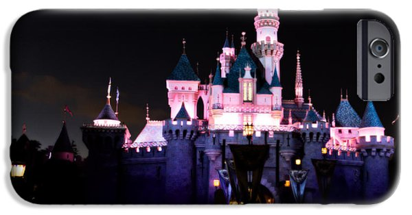 Little Girl iPhone Cases - Sleeping Beautys Castle After Dark iPhone Case by Heidi Smith