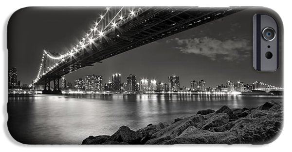 Architecture iPhone Cases - Sleepless Nights And City Lights iPhone Case by Evelina Kremsdorf
