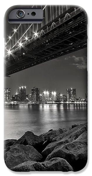 Sleepless Nights And City Lights iPhone Case by Evelina Kremsdorf