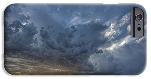 Reflection Harvest iPhone Cases - Slough pond and crop iPhone Case by Mark Duffy