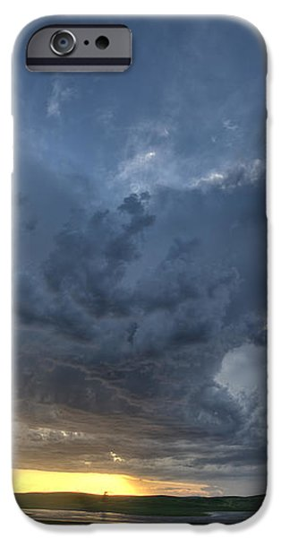Slough pond and crop iPhone Case by Mark Duffy