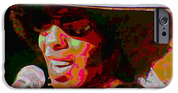 Sly iPhone Cases - Sly Stone iPhone Case by  Fli Art
