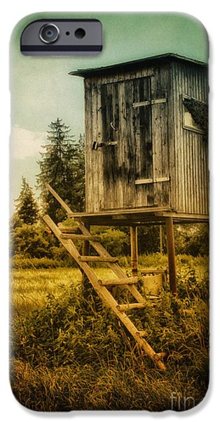 Small Cabin with Legs iPhone Case by Jutta Maria Pusl