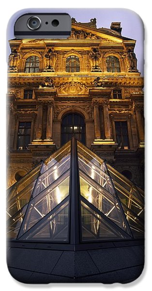 Small Glass Pyramid Outside The Louvre iPhone Case by Axiom Photographic