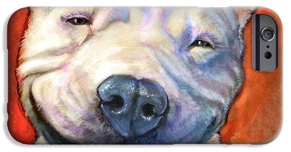 Animal Portraits iPhone Cases - Smile iPhone Case by Sean ODaniels