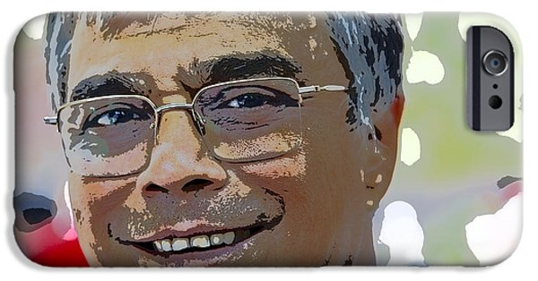 Gray Hair iPhone Cases - Smiling Senior Professional iPhone Case by Kantilal Patel