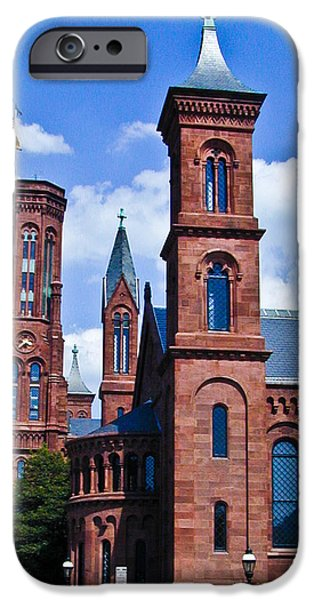 Smithsonian iPhone Cases - Smithsonian Castle 2 iPhone Case by Douglas Barnett