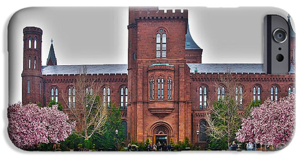 Smithsonian iPhone Cases - Smithsonian Castle iPhone Case by Jack Schultz