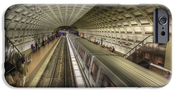 Smithsonian Photographs iPhone Cases - Smithsonian Metro Station iPhone Case by Shelley Neff